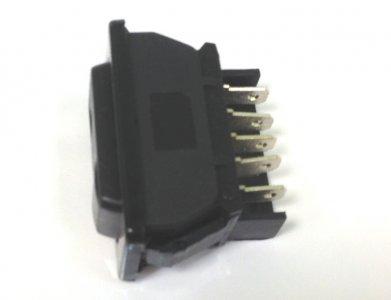 Ablakemelő kapcsoló - fekete