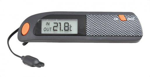 Autós digitális hőmérő - külső belső (karbon)