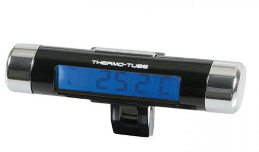 Autós digitális óra belső hőmérővel