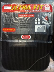 Autószőnyeg textil C típus fekete