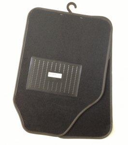 Autószőnyeg textil C típus fekete plüss