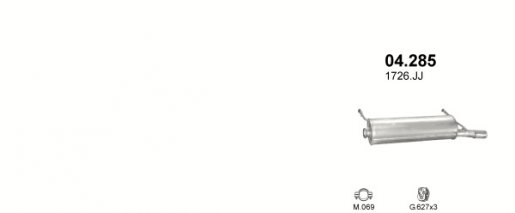 Citroen kipufogódob hátsó W22427 xsara 1.6 00-04