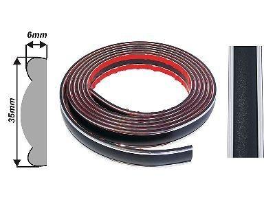 Díszcsík univerzális - króm fekete 35 mm