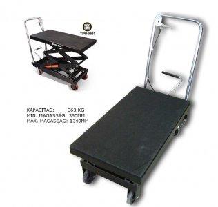 Emelő asztal 363 kg - hidraulikus összecsukható