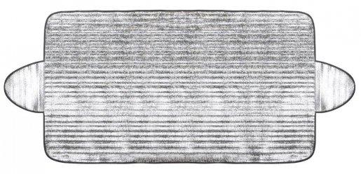 Fagyvédő szélvédő takaró 70x156 cm - személyautóra (ezüst)