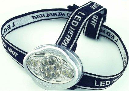 Fejlámpa elemes (11 LED)