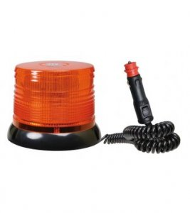 Forgólámpa 12/24V - sárga 40 LED