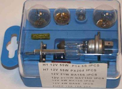 H1-H7 Izzókészlet 12V