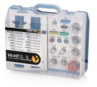 H1-H7 izzókészlet 12V 19DB-OS