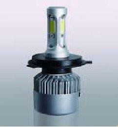 H4 LED izzó 12V 36W N6 6000K COB LED