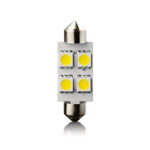 IZZÓ LED 12V SV8.5 39 MM (SZOFITA) FEHÉR 4 LED 2DB