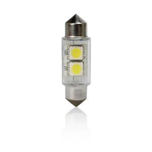 IZZÓ LED 12V T11 31/39 MM (SZOFITA) FEHÉR 2 SMD LED 2DB