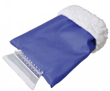 Jégkaparó kesztyűvel - kék