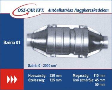 Katalizátor kerek 50mm TIP01 (320x125x110