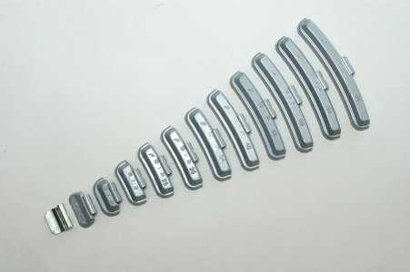 Keréksúly cink acélfelnihez 25 g - felütős