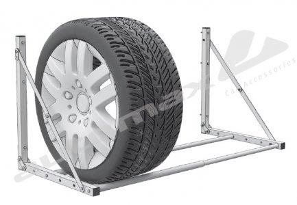 Keréktartó állvány - falra szerelhető (max 4 kerék)