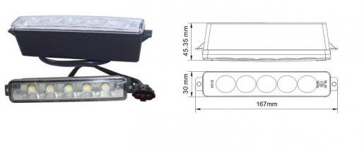 LED LÁMPA (NAPPALI FÉNY)  10-30V FEHÉR 5 LEDES