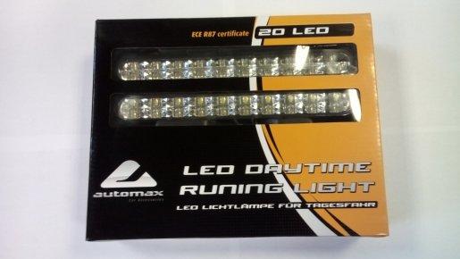 LED lámpa (nappali fény) 12V fehér (16 LED)