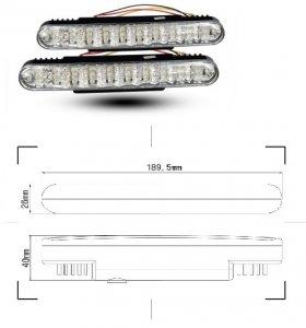 LED lámpa (nappali fény) 12V fehér (30 LED)
