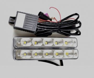 LED lámpa (nappali fény) 12V fehér (5 LED)-3
