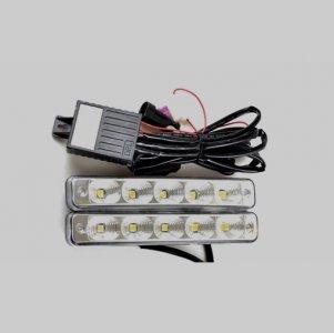 LED lámpa (nappali fény) 12V fehér (5 LED)-1