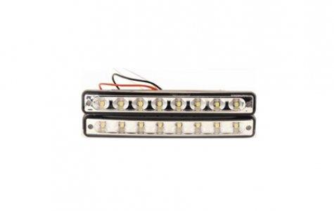 LED lámpa (nappali fény) 12V fehér 8 LEDES
