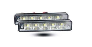 LED lámpa (nappali fény) fehér és borostyán (5 LED)
