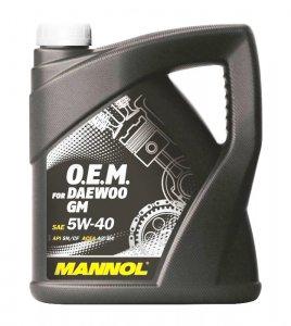 MANNOL 7711 DAEWOO GM 5W40 4L MOTOROLAJ