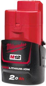 Milwaukee akkumulátor 12v 2.0AH M12B2 - redlithium-ion