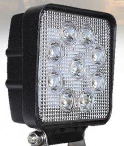 Munkalámpa 12-30V (9 LED) - négyzet