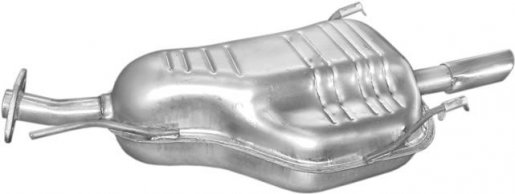 Opel hátsó kipufogó W72351 alumínium (astra g)