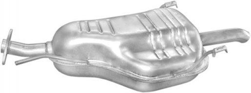 Opel hátsó kipufogó W72358 alumínium (astra g hatchBack)