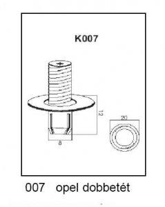 PATENT K007 OPEL DOBBETÉT