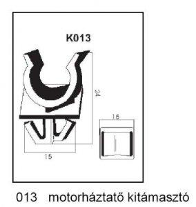 PATENT K013 MOTORHÁZTETŐ KITÁMASZTÓ