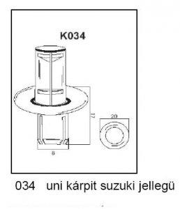 PATENT K034 UNI KÁRPIT SUZUKI JELLEGŰ