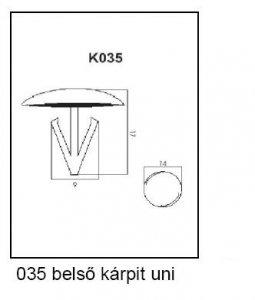 PATENT K035 UNI BELSŐ KÁRPIT