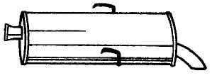 Peugeot hátsó kipufogó b190-021 (106 1.4 xsi)