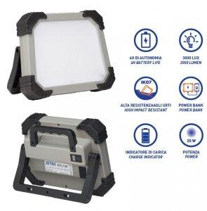 Rekflektor szerelőlámpa akkumulátoros SMD LED (64 LED)