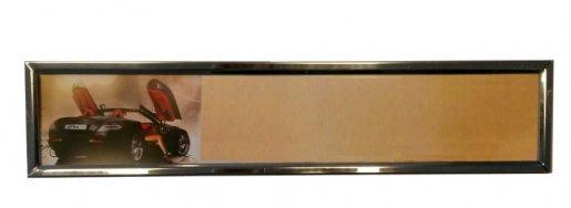 Rendszámtábla tartó fém króm (db) - személyautó