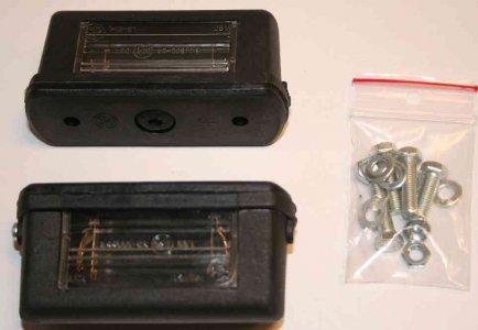 Rendszámtábla világítás univerzális - kicsi (2 db/csomag)