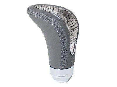 Sebváltógomb - szürke bőr ezüst