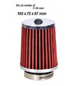 Sport légszűrő 105x75x87 mm - piros