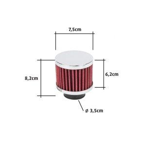 Sport légszűrő 82x62x75 mm - piros