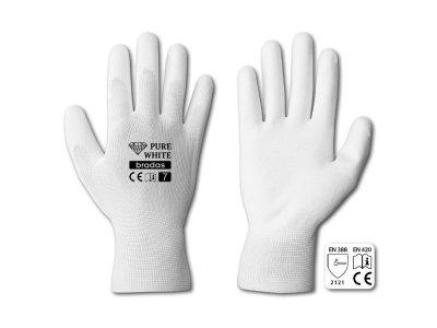 Szerelőkesztyű - méret 8 (poliuretánnal, fehér)