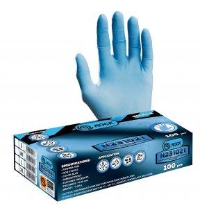 Szerelőkesztyű - nitrile L kék (100db/csomag)