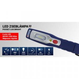 SZERELŐLÁMPA AKKUS SMD LEDES /6+1 LED/