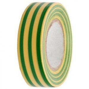 Szigetelőszalag 10 m - zöld-sárga