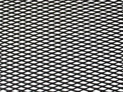 Tuning hűtőrács 100x25 - fekete kis lyukú