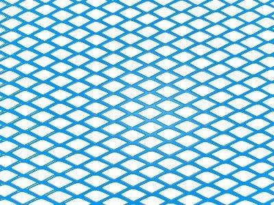 Tuning hűtőrács 100x25 - kék nagy lyukú