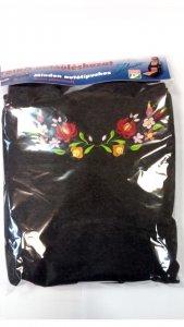 Üléshuzat trikó kalocsai hímzéssel sötét szürke